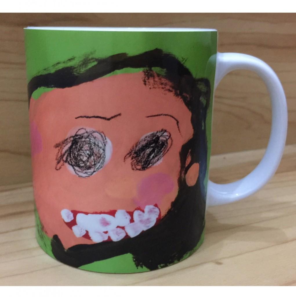 お子様が描いた似顔絵・メッセージをマグカップ・湯呑みに★母の日・父の日・敬老の日等のプレゼント・ギフトに