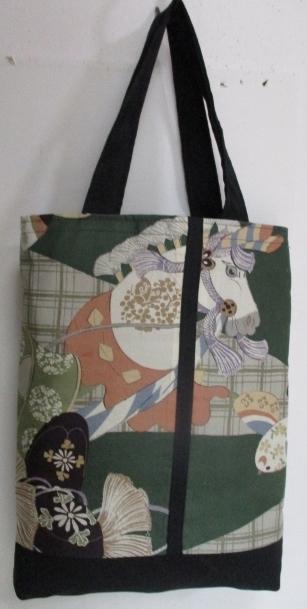 送料無料 男の子のお宮参り着で作った手提げ袋 2549