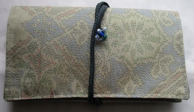 送料無料 色大島紬で作った和風財布 2617