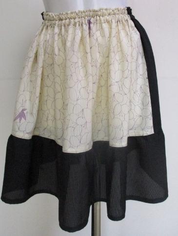 送料無料 絽の着物で作ったミニスカート 2631