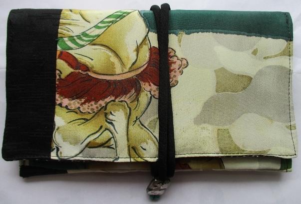 送料無料 男の子のお宮参り着で作った和風財布・ポーチ 2659