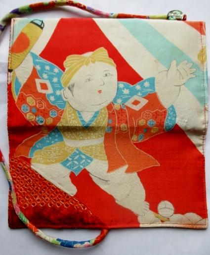 送料無料 絞りと羽織の裏地で作った和風財布・ポーチ 2712