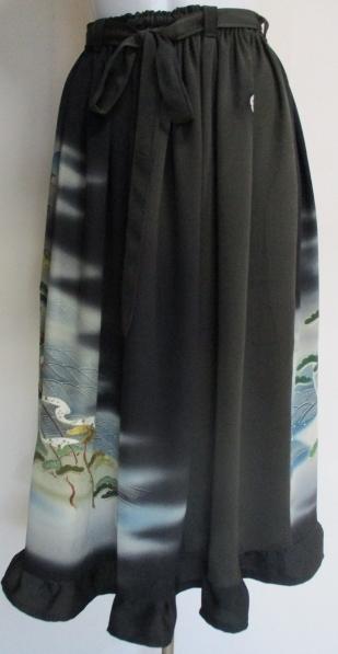 送料無料 色留袖で作ったスカート 2846