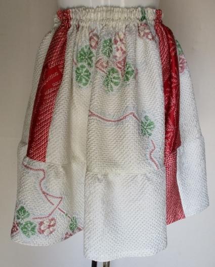 送料無料 絞りの羽織を組み合わせたミニスカート 3123