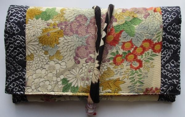 送料無料 花柄の訪問着で作った和風財布・ポーチ3232