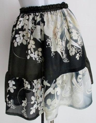 送料無料 絽の色留袖で作ったミニスカート 3316