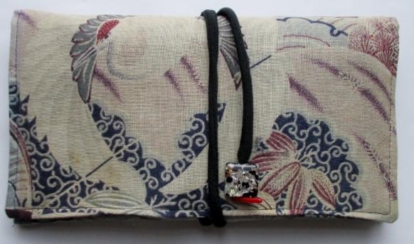送料無料 綿の着物で作った和風財布・ポーチ 3333
