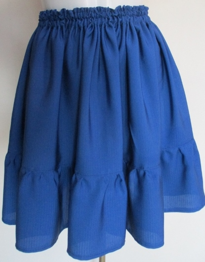 送料無料 絽の着物で作ったミニスカート 3349