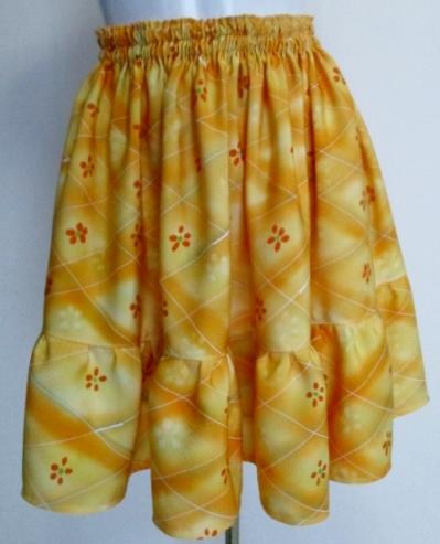 送料無料 正絹の着物で作ったミニスカート 3377