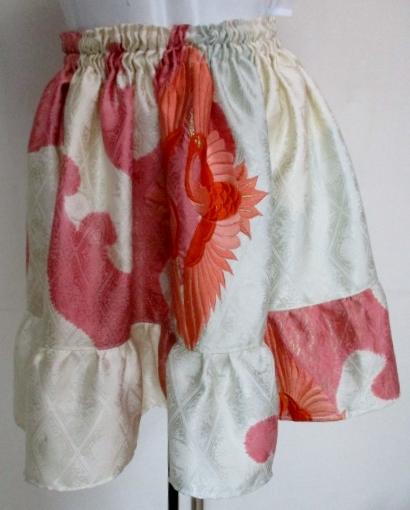 送料無料 刺繍入りの打掛で作ったミニスカート 3401