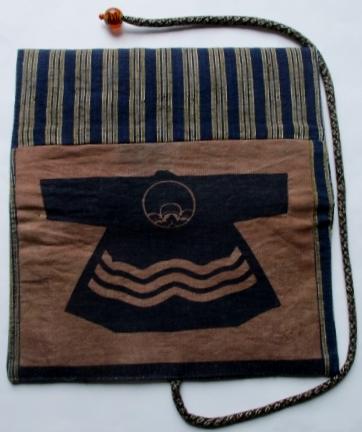 送料無料 袴と半纏柄で作った和風財布・ポーチ 3493