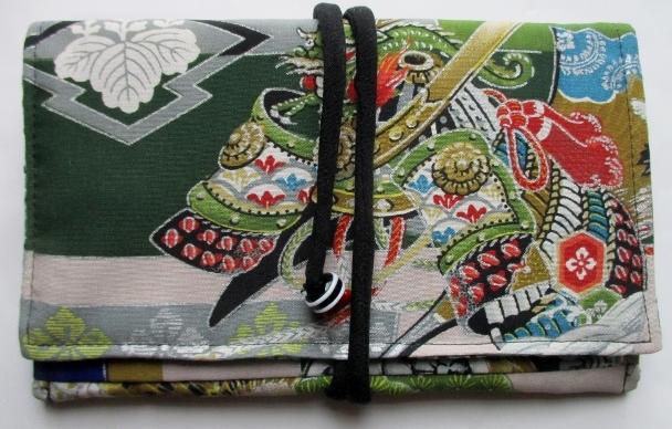 送料無料 男の子のお宮参り着で作った和風財布・ポーチ3511