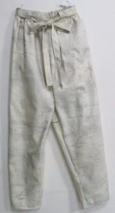 送料無料  縞柄の着物で作ったパンツ 3603