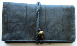 送料無料 花柄の着物で作った和風財布・ポーチ 3606