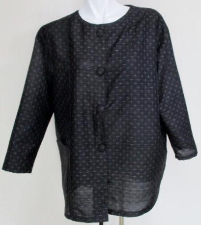 送料無料 紬で作ったジャケット 3612