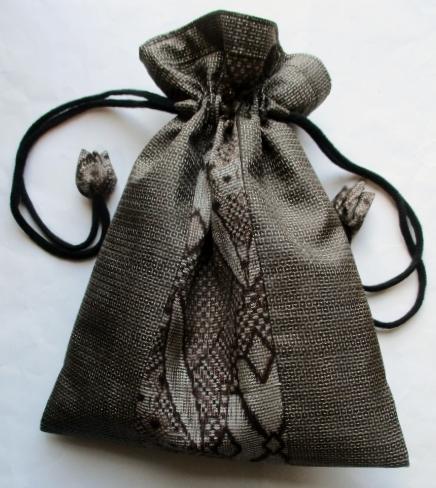 大島紬で作った巾着袋 3706