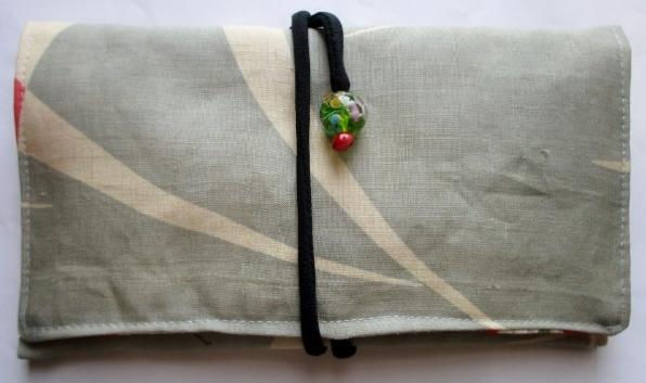 麻の着物で作った和風財布・ポーチ 3716