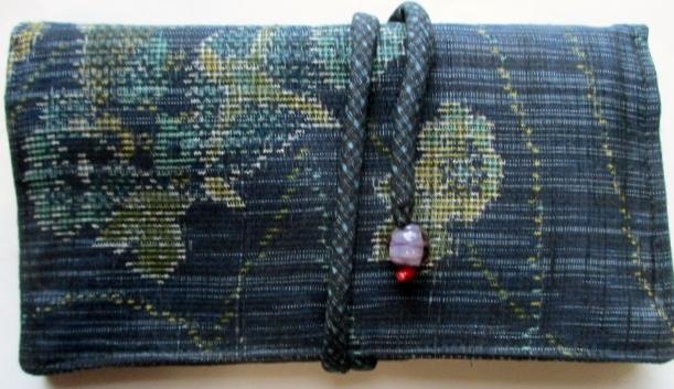 紬で作った和風財布・ポーチ 3705
