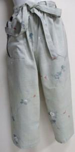 送料無料 大島紬で作った巾着袋 3758