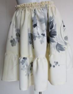 送料無料 型染めと男絣で作った手提げ袋 3761
