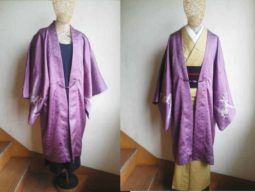 絵羽ロング羽織りコート★和洋兼用