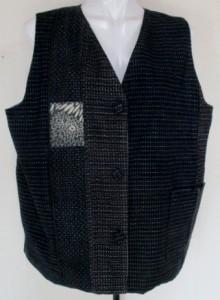 送料無料 紬で作った和風財布・ポーチ 3805