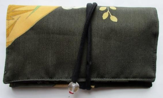 送料無料 色留袖で作った和風財布・ポーチ 3837