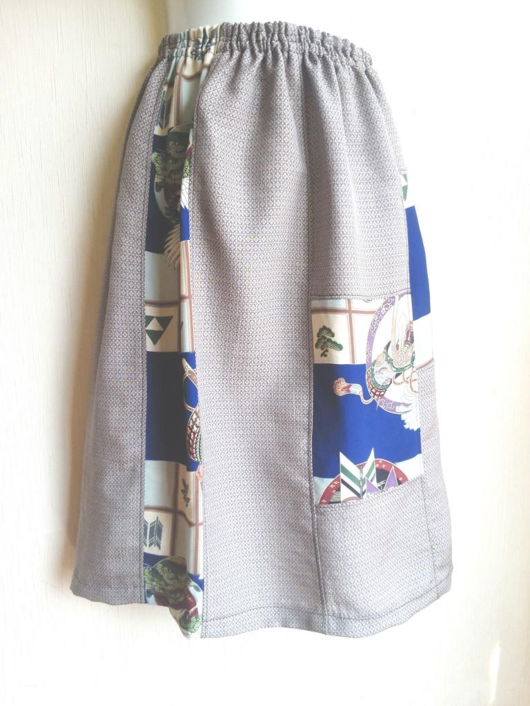 親心★着物リメイクスカート