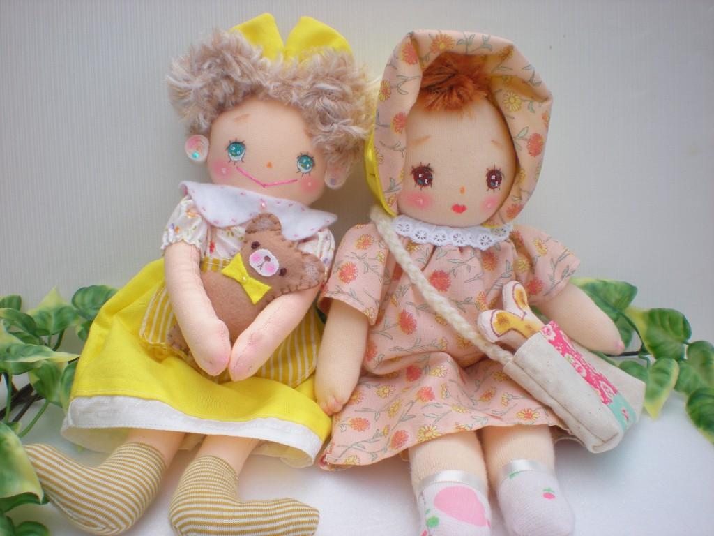 布人形 おてんばちゃんと文化ちゃん